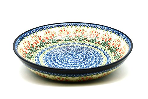 Polish Pottery Bowl - Pasta Serving - Large - Crimson Bells