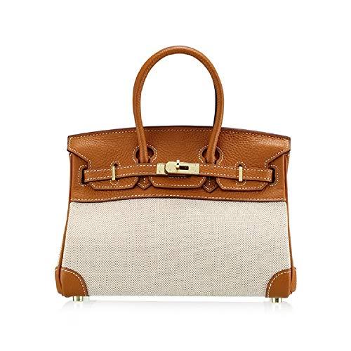 con lucchetto dorato pelle Getthatbag e marrone borse in ® Chloe chiaro Canvas Hardware xpnwBg1q