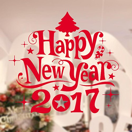 Gillberry Happy New Year 2017 Merry Christmas Tree Wall Sticker