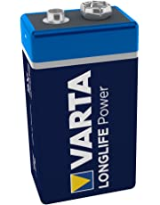 VARTA Longlife Power 9V Block 6LP3146 Batterie, Alkaline E-Block Batterien ideal für Feuermelder Rauchmelder Stimmgerät, 1er Pack