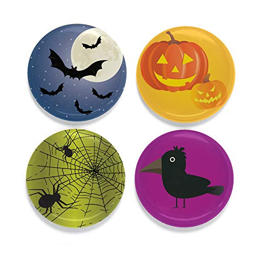 Buttonsmith Halloween Moon Tinker Top Set - to use with Tinker Reel Badge Reel - Made in The USA]()
