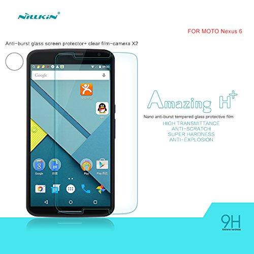 Nillkin Moto Nexus 6 H+ Anti-Explosion Glass Screen Protector - Retail Packaging - Transparent