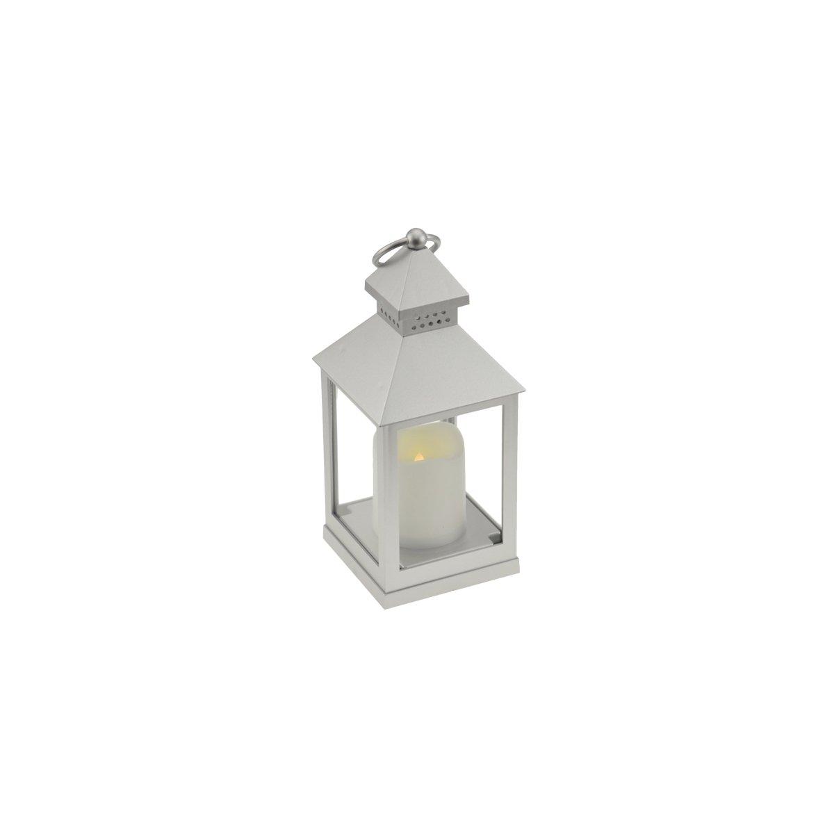 Incidenza Paris 12764/Lanterna LED plastica bianco 10/x 10/x 24/cm