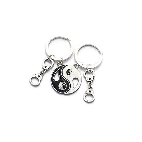 Llaveros Yin Yang, llaveros para mejores amigos, joyas para ...