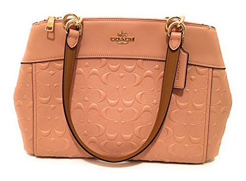COACH F25952 BROOKE CARRYALL EMBOSSED LEATHER NUDE PINK (Coach Handbags Embossed)
