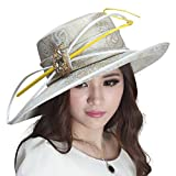 June's Young Ladies Dress Church Hat Floral Formal Dress Hat