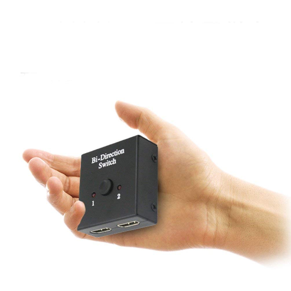 TAOHOU HDMI 2.0 Bi-Direction Smart Switcher 2x1 1080p 4K Resolution Ultra HD Switch Black