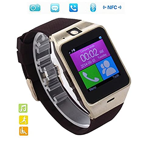 Corelink Bluetooth Smart Wrist Watch Unlock Watch Phone Touch Screen with NFC Camera Pedometer for iPhone Android Samsung Galaxy Note,Nexus,htc,Sony (Unlock Phone With Any Micro Sim)