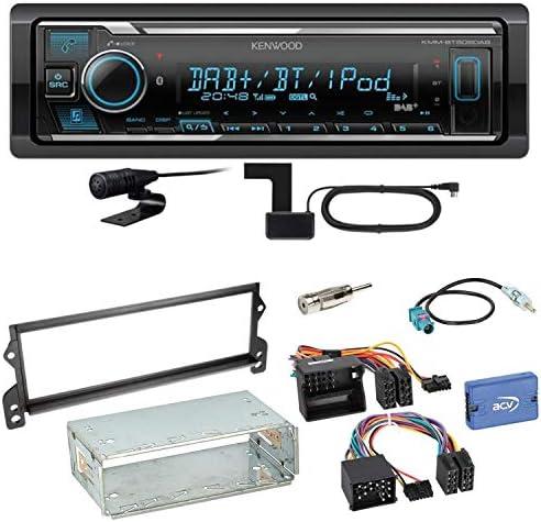 Kenwood Kmm Bt505dab Bluetooth Digitalradio Autoradio Dab Usb Aux Mp3 Flac Aac Wav Einbauset Für Mini