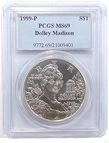 1999 P Dolley Madison Commemorative Dollar PCGS MS69