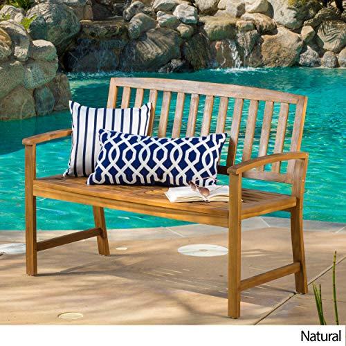 Great Deal Furniture Tamika Teak Finish Acacia Bench