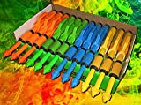Paint Party Supplies Squirt Guns -12 Pack NEON Blasters Squirt Gun