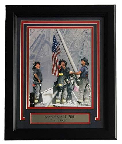 9/11 NYFD Raising Flag at Ground Zero NYC September 11 2001 Framed 8x10 Photo