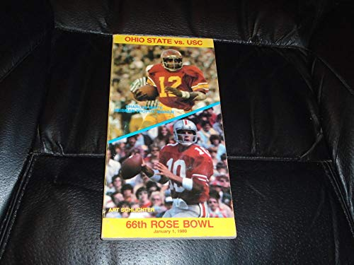 1980 ROSE BOWL FOOTBALL MEDIA GUIDE USC VS OHIO STATE EX