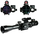 X-Aegis 3-9X40 illuminated Rifle Scope w/ gun sight lasers & Holographic Dot Sight Red / Green Reticle Mount