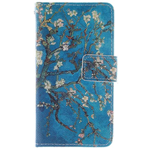 Nokia 635 Case, Lumia 635 Case, Love Sound [Almond Tree] [Stand Feature] Premium Wallet PU Leather Folio Wallet Flip Case Cover Built-in Card Slots for Nokia Lumia 635 - Phone Girls Nokia Cases For 635