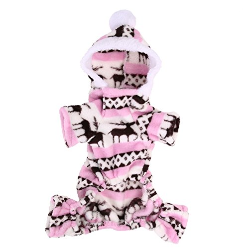 Snowman Velvet - Jocestyle Pet Cothes Waterproof Winter Velvet Snowman Coat Warm Hoodie Jumpsuit Jacket Windproof Costume (XL, Coffee) (XL, Blue)