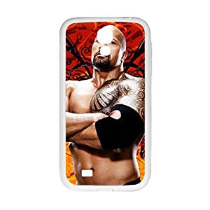 WAGT WWE World Wrestling The Rock White Phone Case for Samsung Galaxy S4