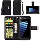 Samsung Galaxy Note 7 Case - IZENGATE [Classic Series] Wallet Cover PU Leather Flip Folio with Stand (Black)