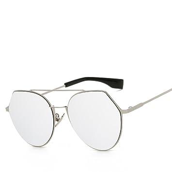Hehong Las Gafas Sol Modernas del Espejo Manera Las Mujeres metalizaron Las Gafas polarizadas reflejadas UV400