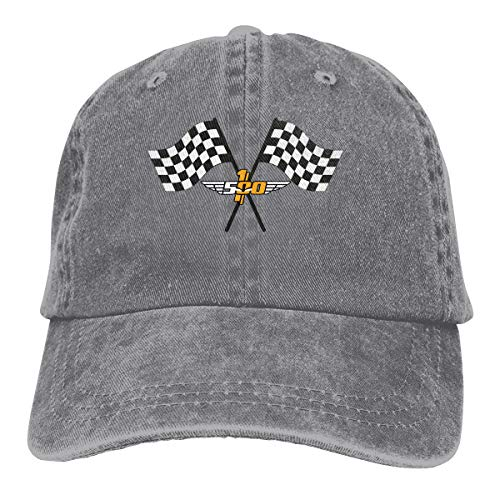 (JAXX9 Checkered Flag Checkerboard Squares Black White Washed Cotton Baseball Cap Adjustable Hat for Women Men Gray)