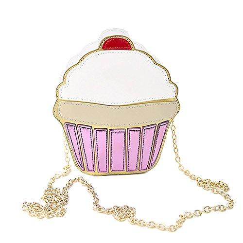 ZIIPOR Cute Women's Bag PU Crossbody Shoulder Bag Ice-Cream Cake Small Shoulder Bag (Cake bag)