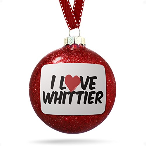 (NEONBLOND Christmas Decoration I Love Whittier Ornament)