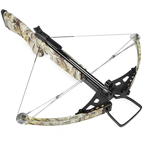 XtremepowerUS Crossbow 180 Lbs 300 fps Hunting Equipment w/Carry Bag, Camo (Hunting Crossbow Lb 180)
