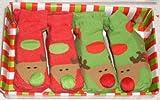 Mudpie Santa Baby 2 Pack Reindeer Baby Booties Size 0