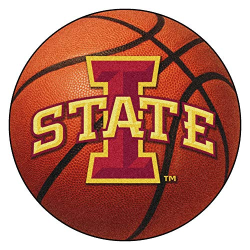 FANMATS NCAA Iowa State University Cyclones Nylon Face Basketball Rug ()