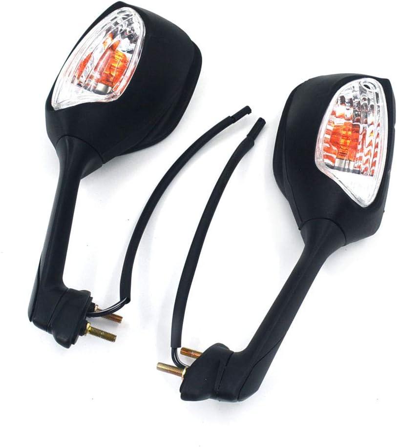 LED, Intermitentes, Indicadores, Suzuki GSXR600 GSXR750 06 07 08 09 10 GSXR1000 05-08 GSXR 600 06-10 JFG RACING Espejos retrovisores Laterales para Motocicleta
