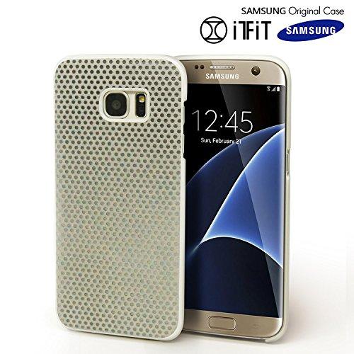 Original Cover - Galaxy S7 Edge Case, Original Samsung [LightBack] Slim [Safe Reflect] [Shock Absorbing] Dual Layer Cover [Night Time Reflection] Soft Flex [Anti Slip] Case for Samsung Galaxy S7 Edge - Silver