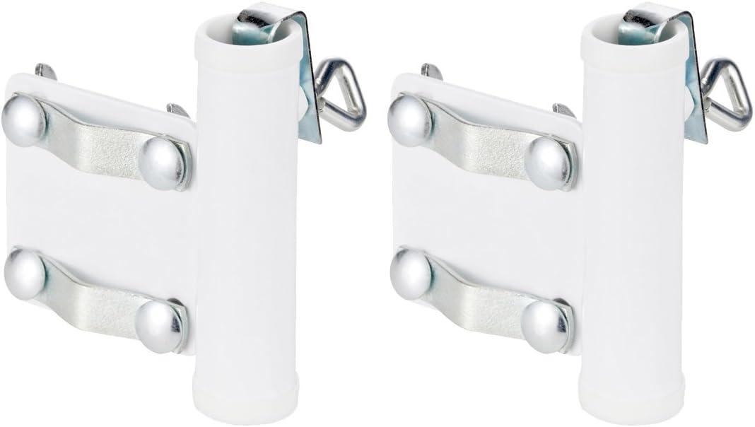 02 Pezzi - Maniglia per Porta Ombrello com-four/® 2X Porta ombrellone per ringhiera del Balcone