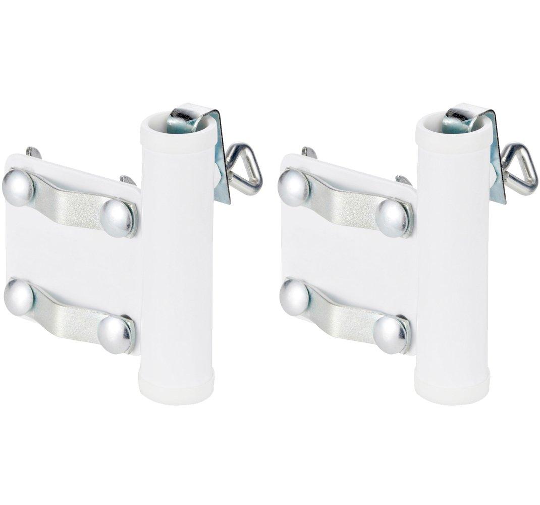 COM-FOUR Porta ombrelli per ringhiere per balconi (01 pezzo - Maniglia per porta ombrello)