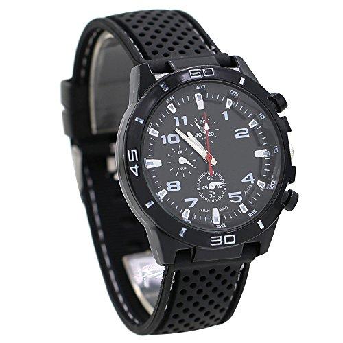 (Catnew Men's Racer Military Pilot Aviator Army Sports Digital Wrist Watch)