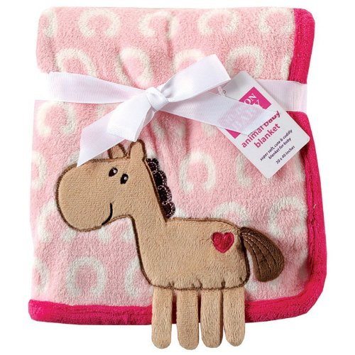 - Hudson Baby Coral Fleece 3D Animal Blanket, Pink (Discontinued by Manufacturer)