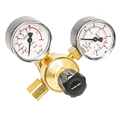 """Forney 85662 Argon/CO2 Regulator with CGA-580 Inlet & 5/8"""" Outlet for Easy Weld 298 & Forney 309, 311, 318, 319, 322, 324, 325, 326 & 327"""