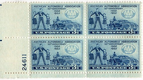 U.S. Stamp 1952 Scott 1007 American Automobile Association 50th Anniv.