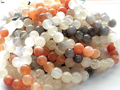 1 Strang natürliches Multi Mondstein Uni Rondelle Perlen, Mondstein Halskette, Multi Mondstein Edelstein, 8 mm Perlen, 33 cm