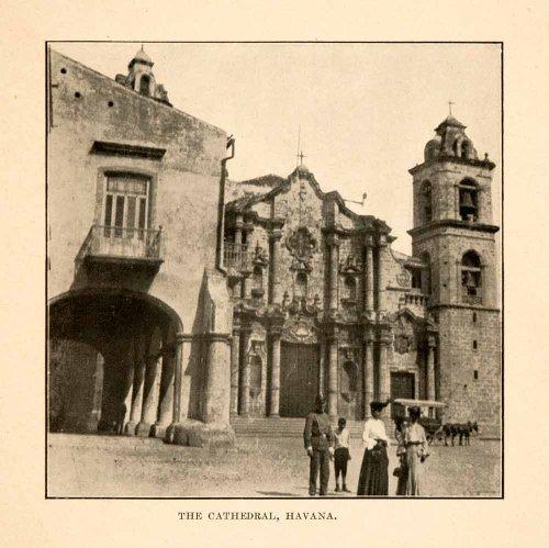 1908 Print (1908 Print Cathedral Havana Church Family Worship Cuba Caribbean Architecture - Original Halftone Print)