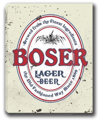 boser-lager-beer-stretched-canvas-sign