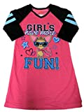 Hanes Girl Pink Have More Fun Night Gown Chihuahua Long Sleeve Nightie