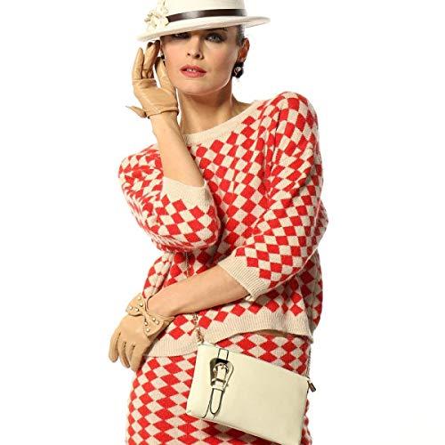 Scamosciata Chic In Guanti Winter Fashion Bowknot Per Donna Ragazza Beige Muffole Tinta Da Pelle Unita E0nqxdq