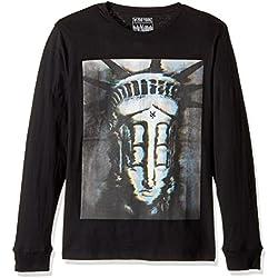Zoo York Men's Long Sleeve Crewneck Shirt, Poltergeist Black, Large