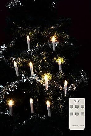 Led Weihnachtsbeleuchtung Ohne Kabel.Led Kerzen Weihnachtsbaum Kerzen Kabellos Batterie Betrieben 10er