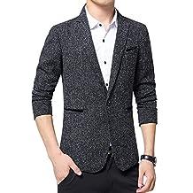 Benibos Mens Premium Casual One Button Blazer Slim Fit Coat Jacket