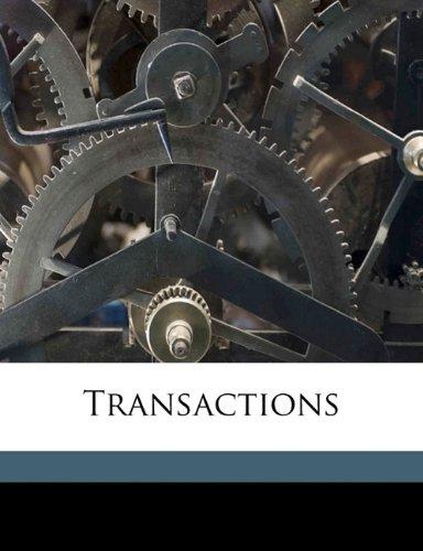 Transaction, Volume 06 pdf