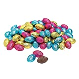 Image of Fun Express - Foil Wrapped Chocolate Eggs (1lb) for Easter - Edibles - Chocolate - Non Branded Chocolate - Easter - 90 Pieces