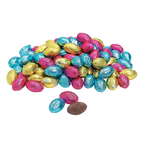 Chocolate Easter Candy Eggs (Approx. 88 Pcs. Per Unit, 1 Lb.) Pastel Color Wrappers