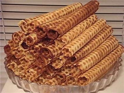 Molde para dulces ruso gofres oblea eléctrica placa gofres molde para hornear (gofrera) por petristor: Amazon.es: Hogar